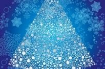 Free vector Vector abstract  Abstract Christmas Tree with Snowflake Vector Art
