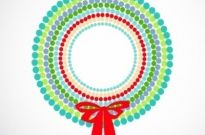 Free vector Vector misc  Abstract Christmas wreath
