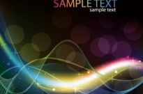 Free vector Vector abstract  Abstract Colored Wave Line Vector Background
