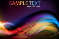 Abstract Colorful Light Waves Vector Background Free vector 4.26MB