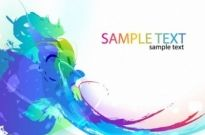 Free vector Vector abstract  Abstract Colorful Paint Ink Splashes Background