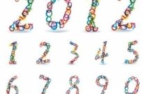 Free vector Vector abstract  Abstract Colorful Rainbow Numbers