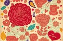 Free vector Vector background  Abstract Elegance Seamless pattern with floral background