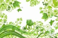 Free vector Vector abstract  Abstract Floral Green Background Vector Illustration