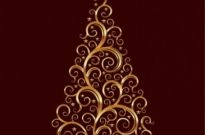 Free vector Vector abstract  Abstract Floral Swirl Christmas Tree Vector Graphic