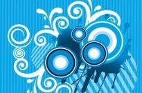 Free vector Vector abstract  Abstract Floral with Sound Blue Background