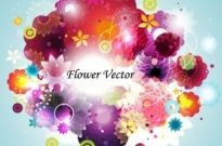 Free vector Vector flower  Abstract Flower Vector