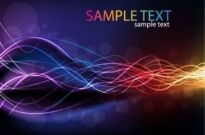 Free vector Vector abstract  Abstract Glowing Lines of Light with Rainbow Colors Background