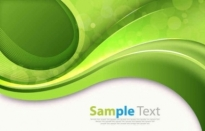 Free vector Vector background  Abstract Green Curves Vector Background