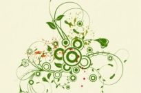 Free vector Vector abstract  Abstract Green Floral Vector Graphic