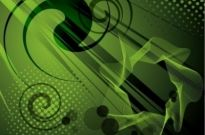 Free vector Vector abstract  Abstract Green Vector Background