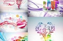 Free vector Vector background  Abstract Valentine's Day Vector Graphics