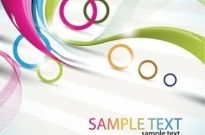Abstract Waves and Circles Vector Background Free vector 2.56MB