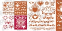 Free vector Vector flower  Accommodates a heart-shaped pattern with lace material element vector