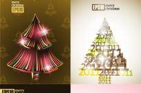 All kinds of christmas tree vector Free vector 2.64MB