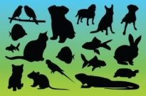 Free vector Vector Silhouettes  Animal Silhouettes Vectors