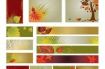Free vector Vector background  Autumn banner background