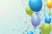 Balloons design background Free vector 2.64MB