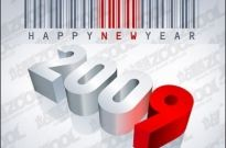 Free vector Vector misc  Barcode, Happy New Year