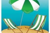 Free vector Vector misc  Beach Chair and Parasol