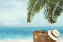 Free vector Vector background  Beautiful beach vector background00001