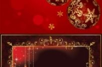 Free vector Vector background  beautiful christmas ball background vector