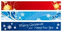 Free vector Vector banner  beautiful christmas banner banner vector