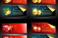 Free vector Vector banner  beautiful christmas banner vector