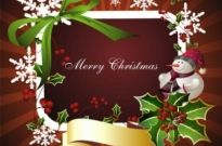 Free vector Vector background  beautiful christmas border background 03 vector