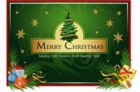 Free vector Vector Christmas  Beautiful Christmas Card Vector