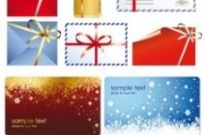 Free vector Vector Christmas  beautiful christmas cards with envelopes vector