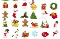 Free vector Vector icon  beautiful christmas icons vector