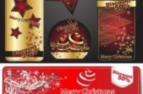 Free vector Vector Christmas  beautiful christmas labels vector