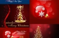 Free vector Vector background  beautiful christmas ornaments background vector