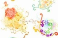 Free vector Vector pattern  beautiful floral pattern vector series series 1 10p