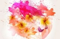 Free vector Vector flower  beautiful flowers background 03 vector