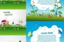 Free vector Vector background  beautiful green cartoon background vector