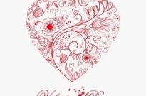 Free vector Vector floral  Beautiful Greeting Floral Heart Vector Illustration