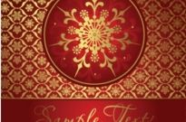 Free vector Vector background  beautiful snowflake background 01 vector