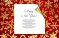 Free vector Vector background  beautiful snowflake background 05 vector
