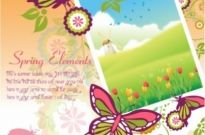 Free vector Vector misc  Beautiful Spring picture frame