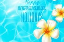 Free vector Vector background  Beautiful summer vector background