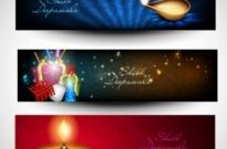 Free vector Vector background  beautifully diwali background 06 vector