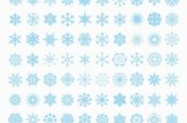 Free vector Vector misc  Big Set of Vector Snowflakes