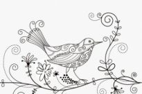 Free vector Vector background  Bird Floral Background Vector Illustration