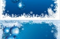 Free vector Vector background  blue christmas background 03 vector
