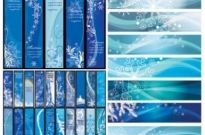 Free vector Vector background  Blue Christmas vector banners background