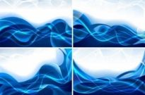 Free vector Vector background  Blue dynamic lines background vector graphics