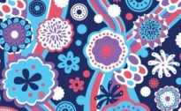 Free vector Vector background  Blue Floral Pattern