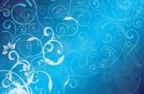 Free vector Vector floral  Blue Floral Vector Background